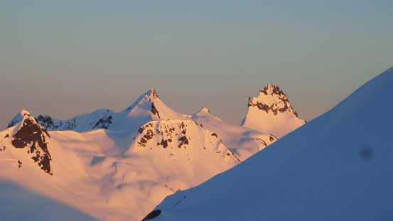 And, evening glow on Mt. Fee