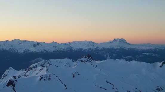 Mt. Garibaldi massif on the right horizon