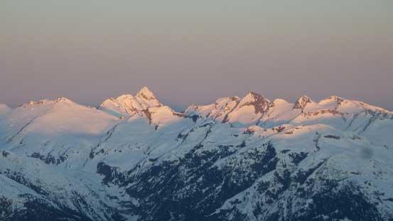 Alpenglow on Mt. Ashlu