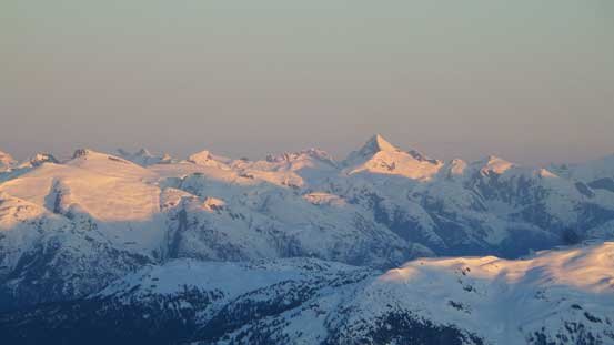 Alpenglow on Mt. Tinniswood by Clendinning Provincial Park