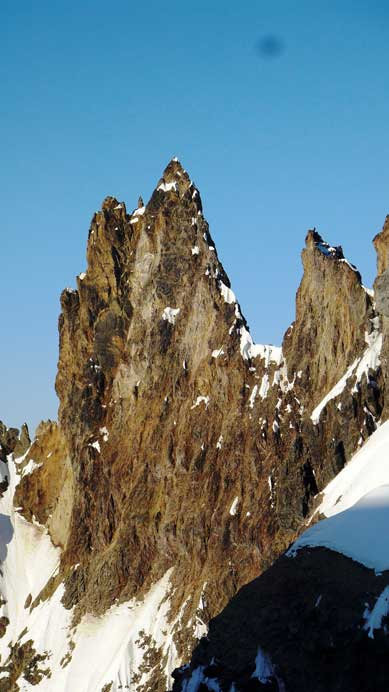 The yet unclimbed Vulcan's Thumb