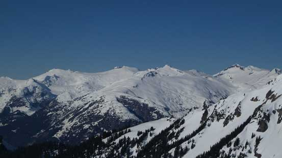Pykett Peak and Amicus Mountain on Ashlu - Elaho Divide