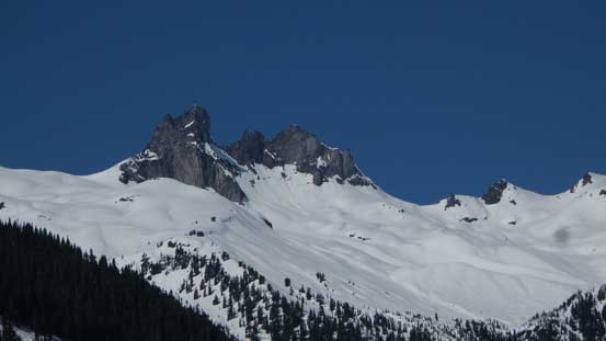 One last look back at Mt. Fee from near the parking lot.