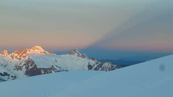 Note the shadow created by Mt. Baker massif