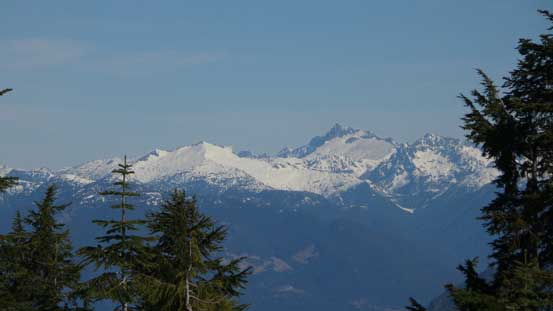 Already able to see Mt. Tantalus and Mt. Sedgwick