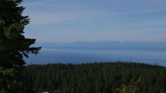 From the south summit, looking across Straight of Georgia towards Vancouver Island