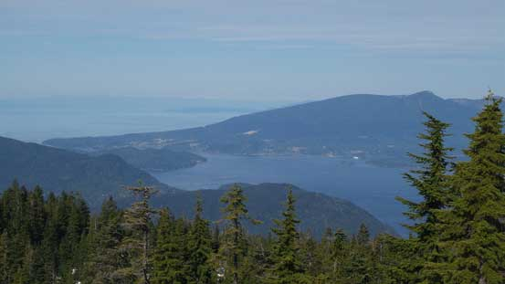 Looking down into the Howe Sound