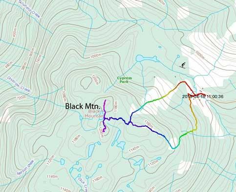 Black Mountain hiking/snowshoeing route