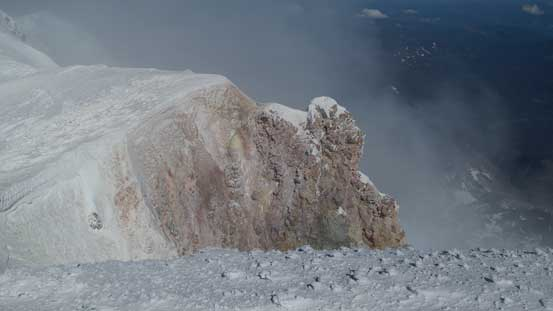 Volcanic features on the summit
