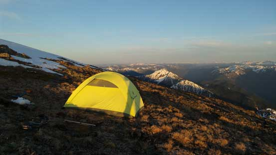 My tent high on Mt. Outram