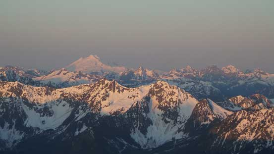 Mt. Baker at alpenglow