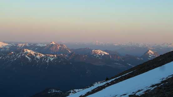Those peaks nearby Hope. Isolillock Peak is the big one on left