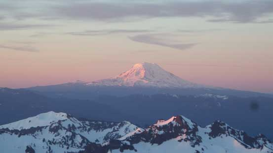 Mt. Adams (3700+ meters high) on alpenglow