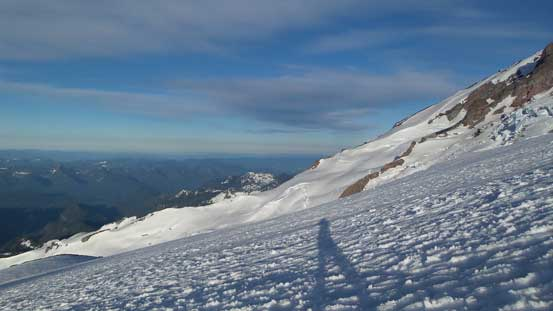 Plodding up Muir Snowfield