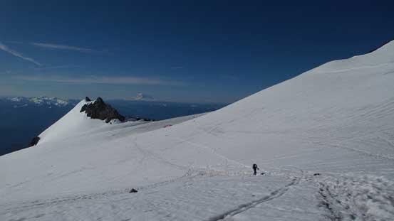 Plodding across Cowlitz Glacier