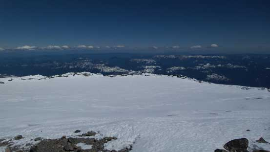 The summit crater and the Columbia Crest