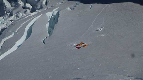 Zooming-in of the camp on Ingraham Flats