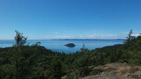 Another view towards the ocean. San Juan Islands on the right
