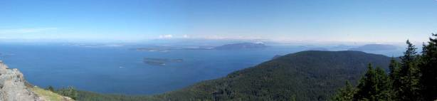 Summit Panorama from Mt. Constitution