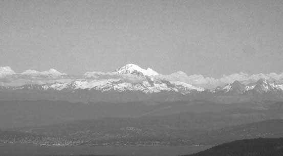 A zoomed-in view of Mt. Baker