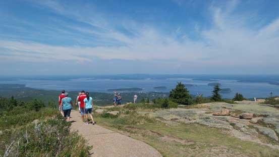 Wondering around the summit plateau