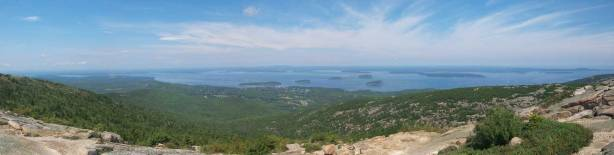 Partial Panorama from Cadillac Mountain. Click to view large size.