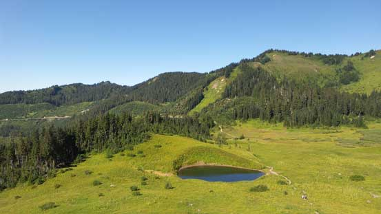 The same tarn, from above