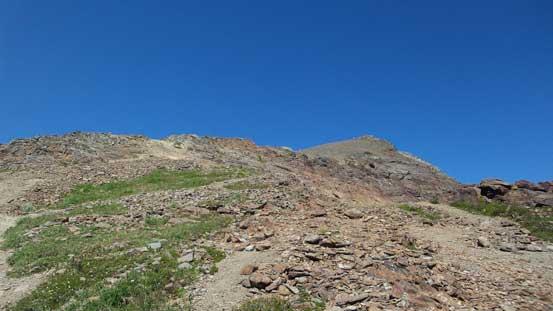The terrain starts to get rockier