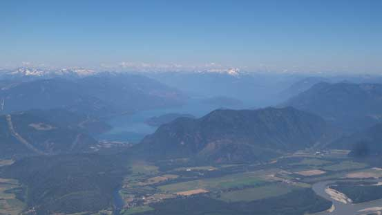Harrison Lake to the north. The bump in front is Bear Mountain, now looking tiny.