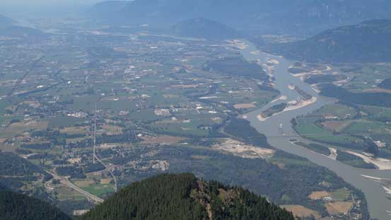 Fraser Valley at 2000 vertical meters below