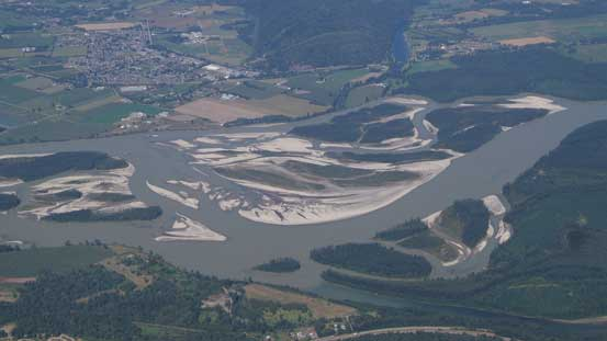 Fraser River and some braided sections