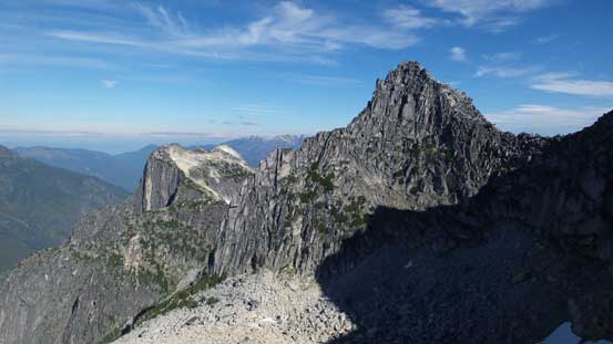 The N. Nesakwatch Spire with Illusion Peaks behind