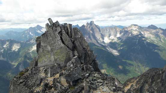 Looking back at the middle summit