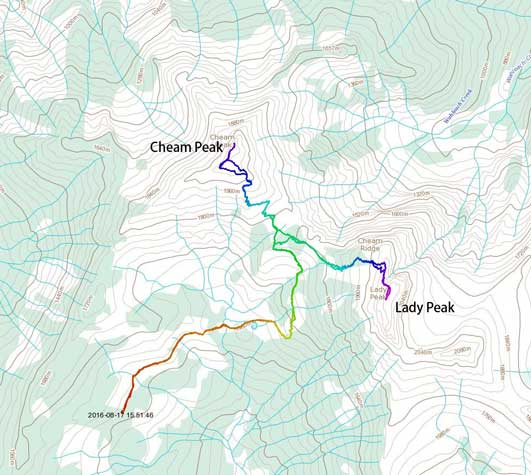 Cheam Peak and Lady Peak scramble route