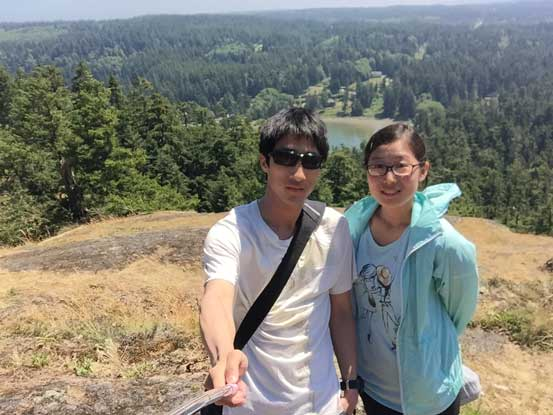 Yujia and myself on the summit of Goose Rock