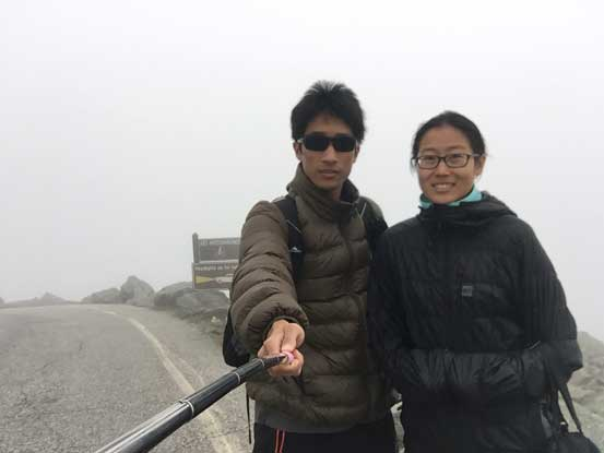 Yujia and myself near the summit, checking out the Auto Road