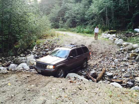 Brian mastered this ditch in his Jeep Grand Cherokee