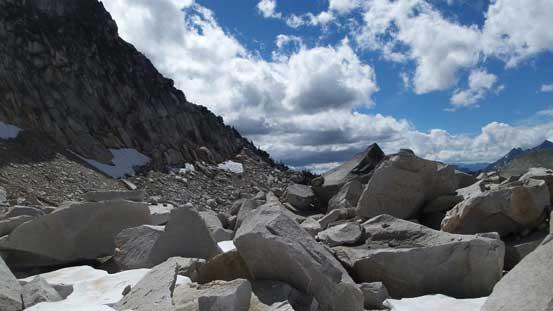 Lots of boulders to negotiate...