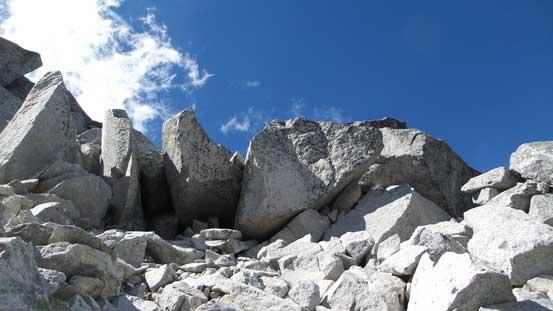 Some jammed boulders