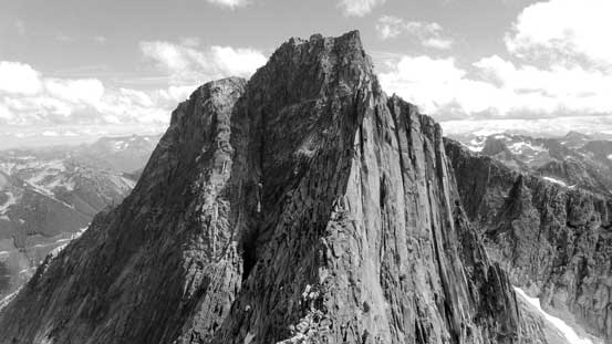 Looking back at the mighty Mt. Rexford with the S. Nesakwatch Spire in front