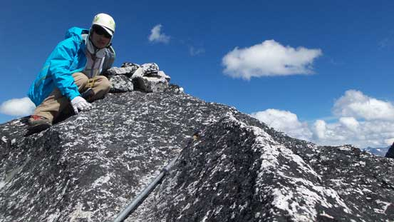 Me on the summit of North Nesakwatch Spire