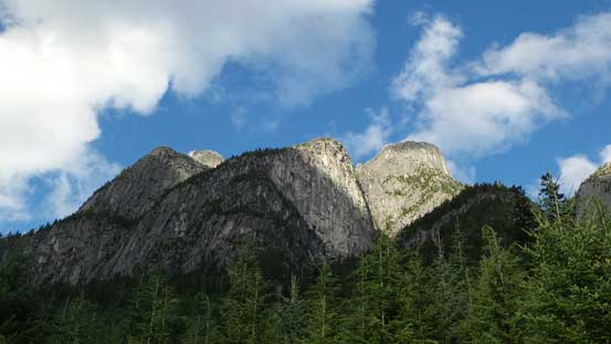 Looking back up at the Illusion Peaks
