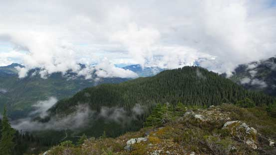 Neat views from the ridge, but clouds were moving in already...
