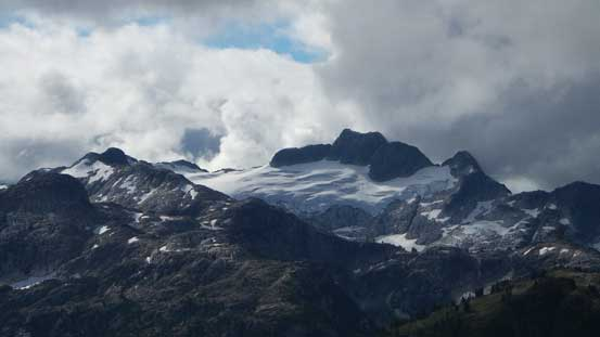Meslilloet Mountain to the south. It's the closest glaciated peak to Vancouver