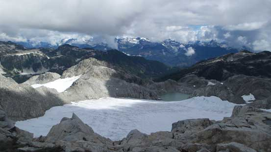There's another pocket glacier on the east side of the divide.