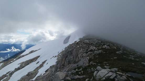 The summit was now disappeared in the weather