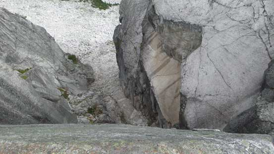 A giant split in the rocks. Cool to check out but I didn't want to step too close to the edge.