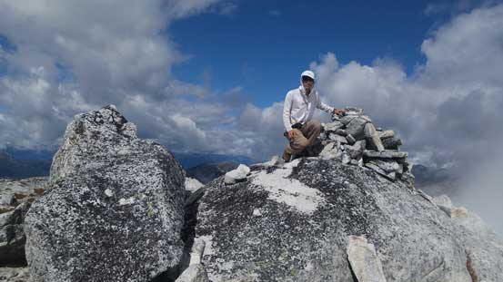 Me on the summit of Scuzzy Mountain
