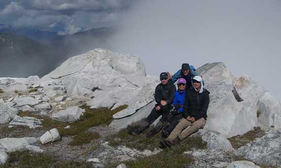 Our group shot on the summit