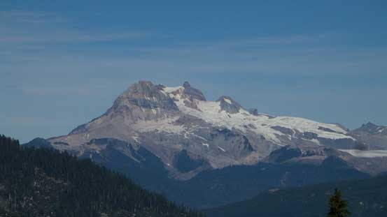 Finishing the initial bushwhacking part, Mt. Garibaldi revealed itself.